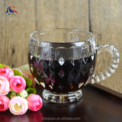 Customized Printing Logo Drinking Glass 200ml Wholesale Arabic coffee sets
