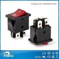 6A 250V DPST 4 pins rs rocker switches