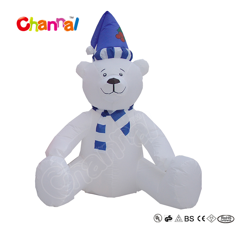 120cm Inflatable Polar Bear Christmas Decoration for Kids Party