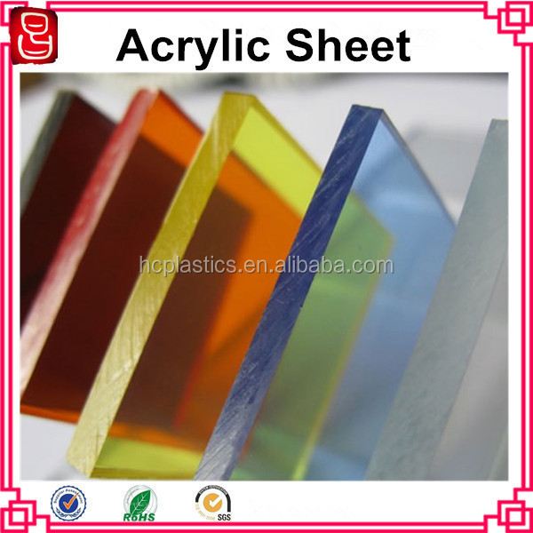 coloured acrylic sheet 5mm/coloured transparent acrylic plastic/plexiglass 6mm