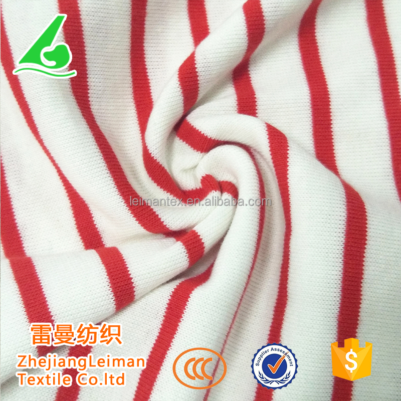 Online shopping yarn dyed combed 100 cotton stripe fabric
