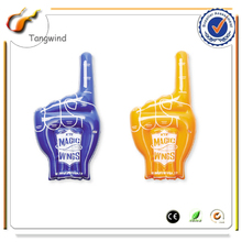 Eco printed PE inflatable led glowing ballon custom finger led foam cheering stick