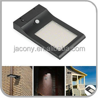 Ultra Bright thin Wireless Waterproof IP65 solar energy saving wall street lamp with 48 LED Modern garden corridor (JL-3517)