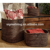 Classical style handmade wicker storage box rattan storage basket