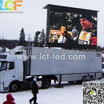l LED truck with screen and led mobile stage truck 16mm pixels