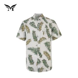 Best selling 100 polyester short sleeve hawaiian funny holiday men trendy casual shirt