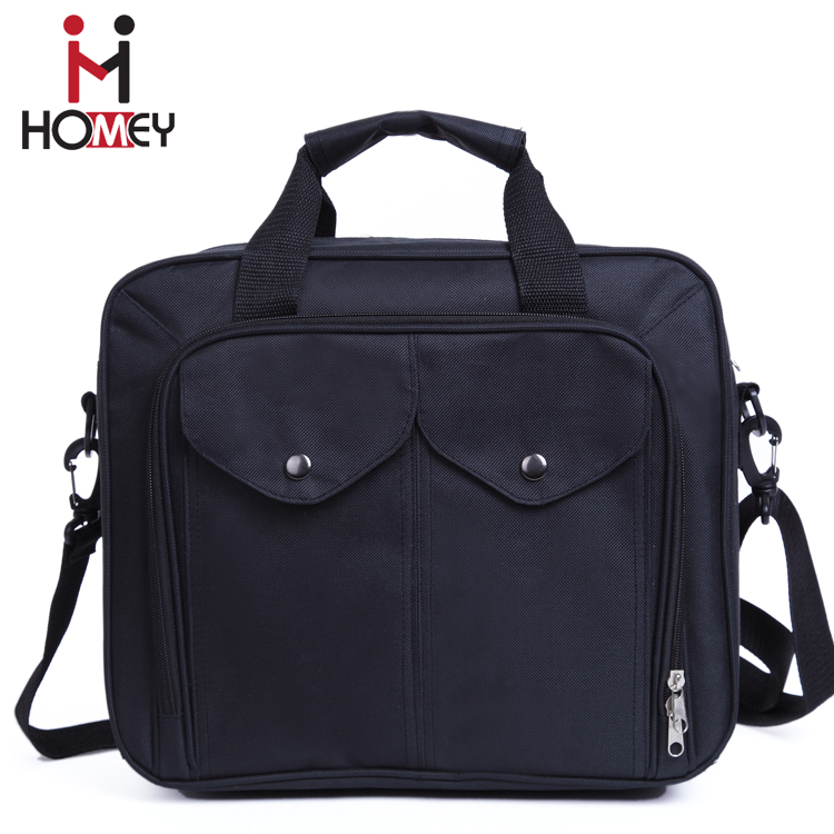 2016 New Design Black waterproof business briefcase canvas laptop bag for computer