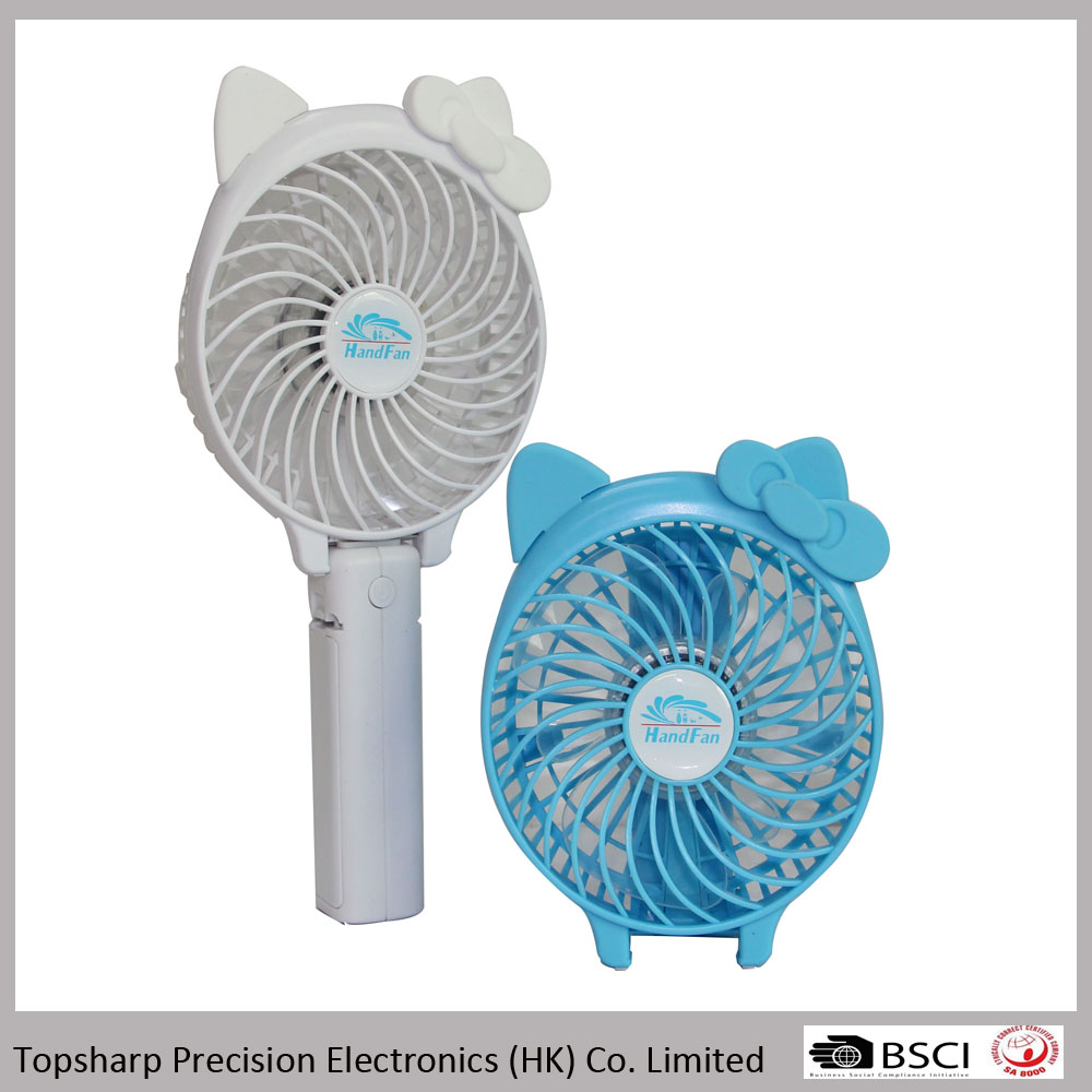 Cartoon table stand dc elctrical ventilator fan for camping and office