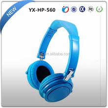 Blue HIFI stereo headphone with cosy earmuff and private model patent