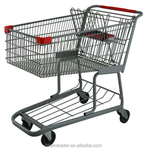 Winleader reasonable price of food metal cart for big upermarkets