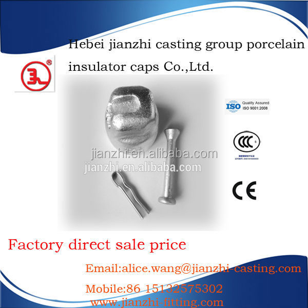 Ball and socket cap coupling ANTI Pollution fog glass insulators