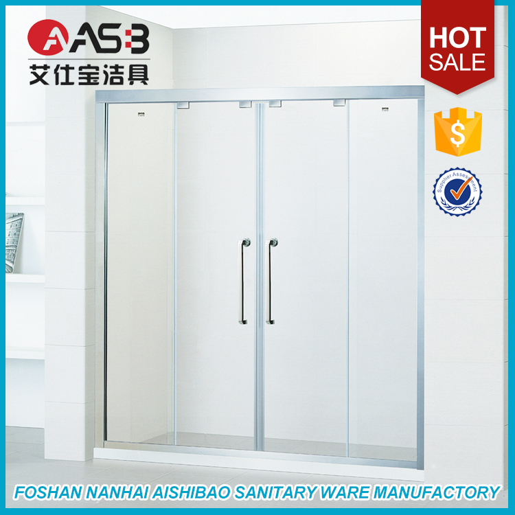 Aluminum Frame Custom Tempered Glass Shower Screens