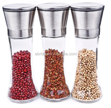 Hand Manual Glass Pepper Salt Sugar Herb Spice Grinder Mill 285g