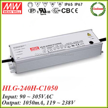 Meanwell HLG-240H-C1050 1050ma constant current dimmable led driver