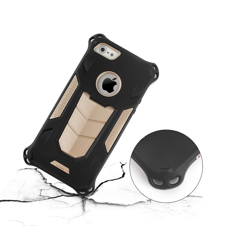Special Durable Shockproof 2 in 1 Hybrid Armor mobile phone case for iPhone5 5s SE with kickstand