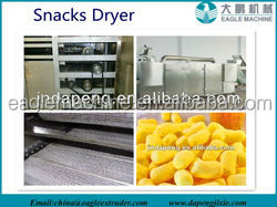 CE certificate puff snack food/fish feed roasting Oven/dryer machine globle supplier in china
