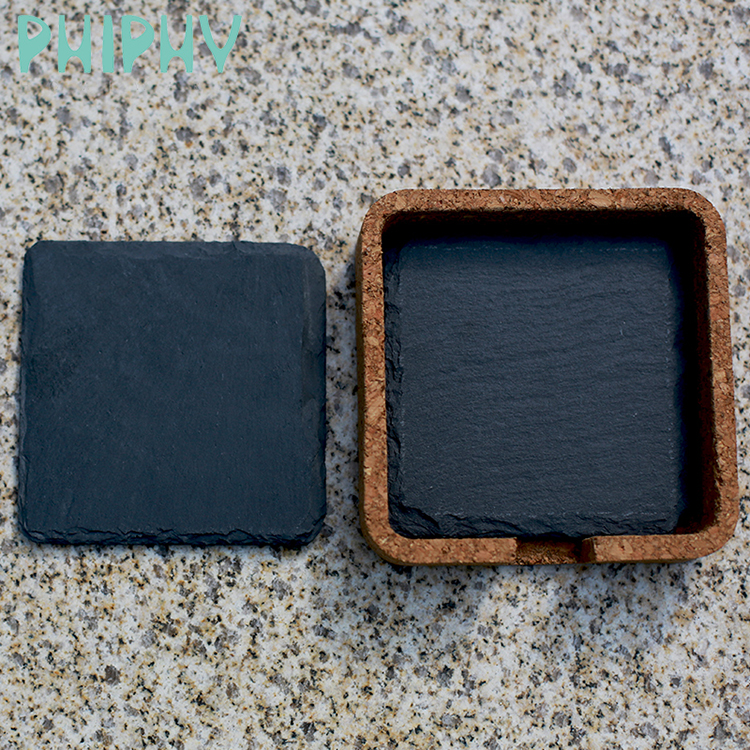New tableware products <strong>nature</strong> made wholesale black slate coaster
