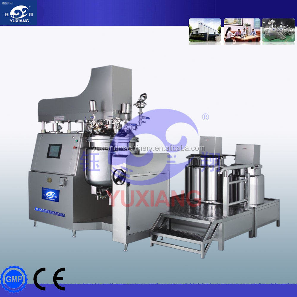 high quality vacuum emulsifying mixer with oil and water pot