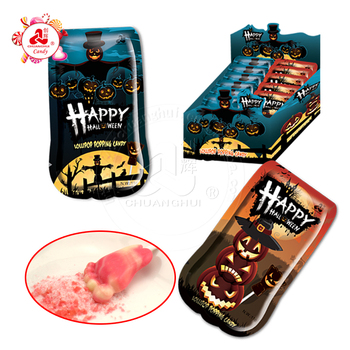 Happy Halloween Lollipop With Popping Candy, Halloween Candy Sweets