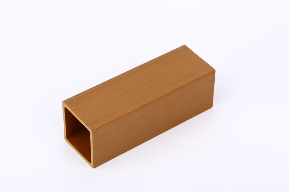 Made in china original surface wood plascic composite hollow timber tube