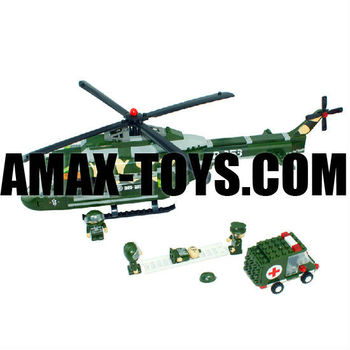 bd-0788253 children toys brick Military helicopter plastic intelligent toys brick 263pcs