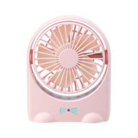 2018 Hot Sell Doraemon Shape Handheld Portable USB Fan,Dual Use Rechargeable Desktop Fan for Office, Outdoor, Camping, Beach etc