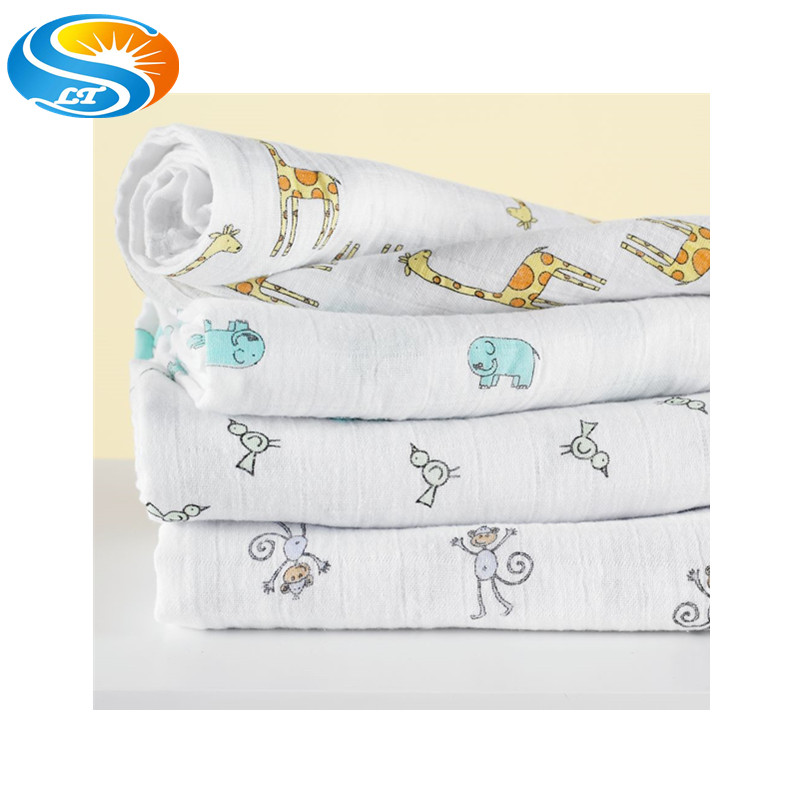 cotton muslin baby swaddle wrap baby blanket