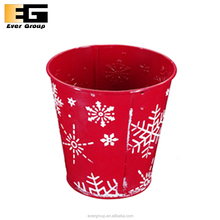 Christmas Flower Pot with Snowflake Embossed