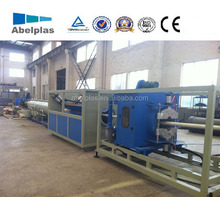 CE certificated pvc pipe manufacturing unit with twin screw extruder
