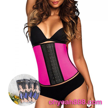 Five Color Nine Size Popular Design High Quality Nine Steel Boned Latex Corset