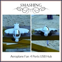Custom OEM 4 Port USB Hub, Airplane Shape USB Hub with Special Gift Package Box