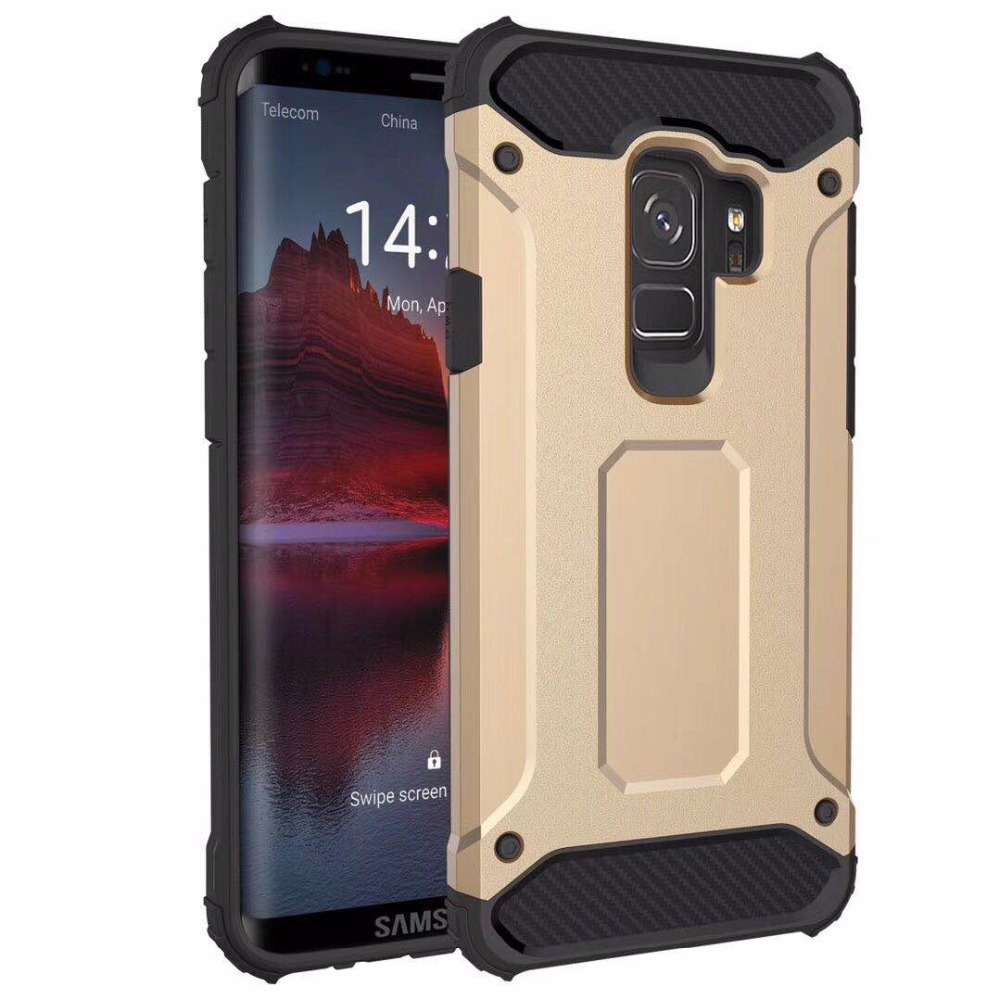 For Samsung Galaxy S9 phone Case,Super Cool Blue Color TPU PC Shockproof Phone Case for Samsung Galaxy S9 Plus
