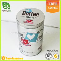 Coffee Tin Coffee Cans Packaging Round