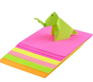 Fluorescent folding paper,Bright Neon colors origami papers