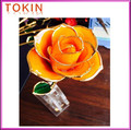 good quality gold plated natural rose flower