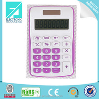 Fupu plastic office desktop 8 digit dual power calculator