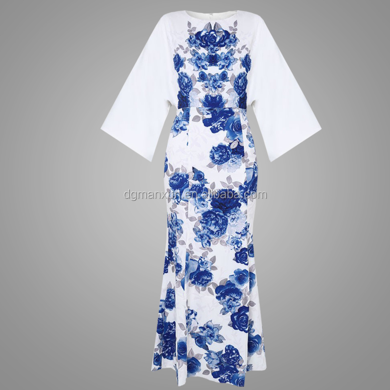 Latest Muslim Women Jubah Printing Long Dress Fashion Wholesale Dubai Abaya Muslimah New Style Jubah Abaya For Women (5).jpg