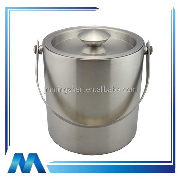 small stainless steel bucket stainless steel standing wine bucket stainless steel wine ice bucket