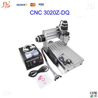 Wholesale!! 3 axis CNC 3020Z-DQ desktop cnc milling/drilling machine with ball screw, upgrade from cnc 3020