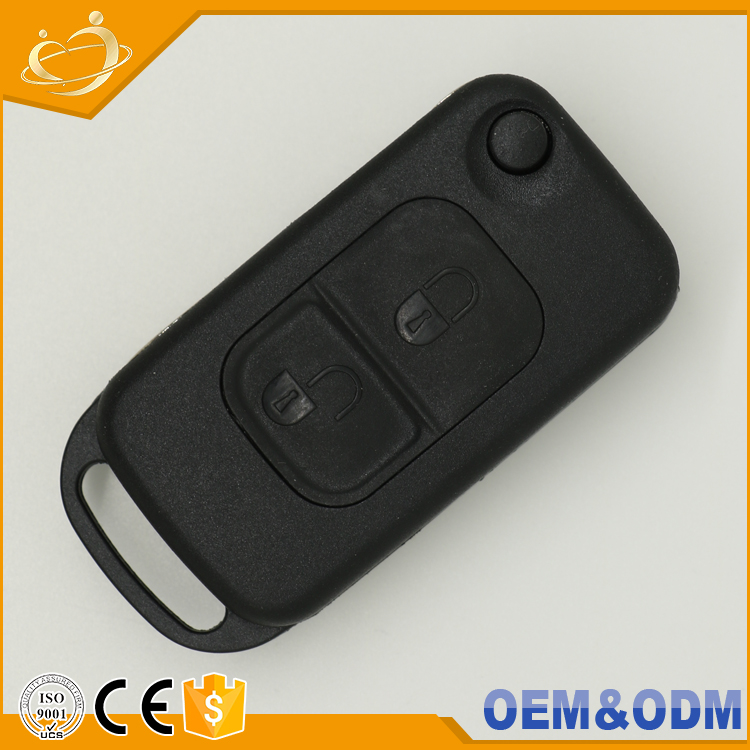 2 Buttons + 1 Flip Folding Fob Case Remote Car Key For Mercedes Benz E113 A C E S W168 W202 W203