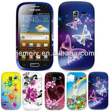 Colorful Flower Gel Mobile Phone Case Cover For Samsung Galaxy Ace 2 i8160