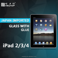 tempered glass film for ipad 2 3 , tablet accessories for apple ipad 4
