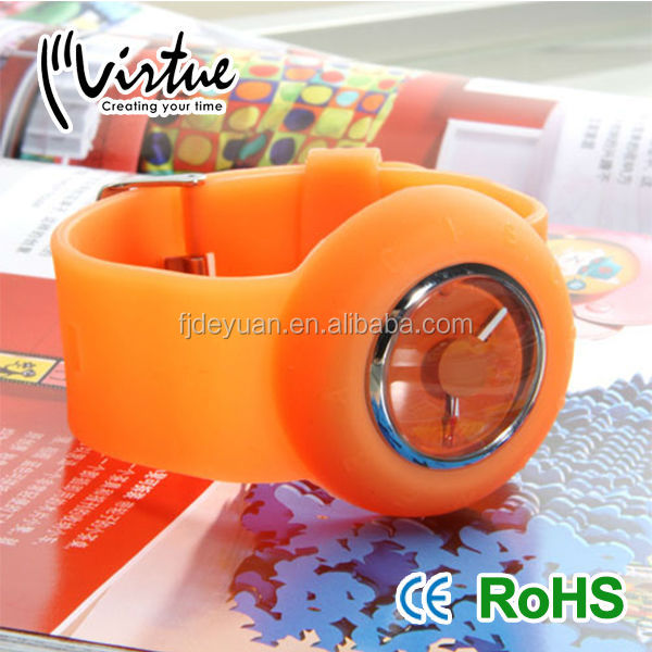 Orange Small Sports Silicone Watch