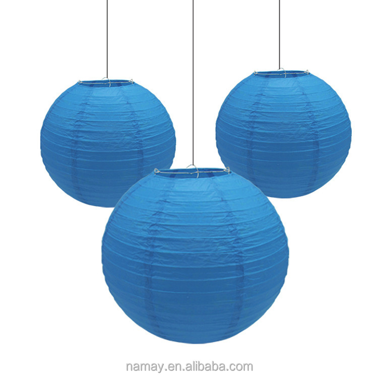 Best Blue paper lanterns crafts decorations for Hanging in the roof