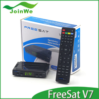 twin tuner hd 1080p satellite receiver Freesat V7 digital set top box support powervu iptv youtube