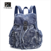 2016 new model fashion lady jeans backpack durable backpack bag european style back pack