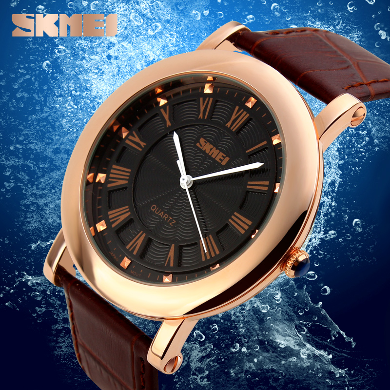 SKMEI new watch leather relojes hombre #1104watch piece