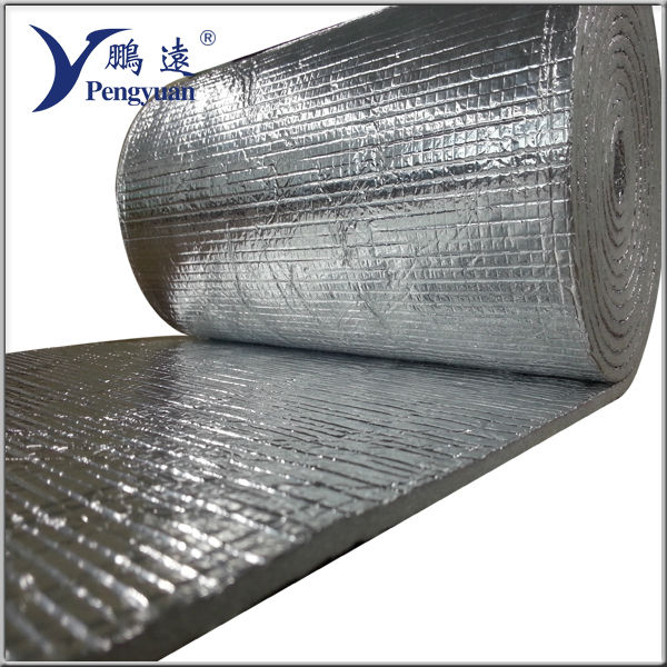 reflective energy saving building material closed cell thermal insulation rubber foam roll