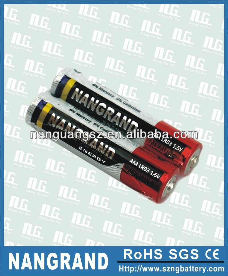 aaa alkaline 1.5v battery lr03