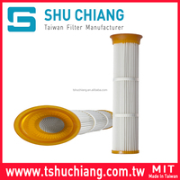 Pleated Bag Filter Cartridge Polyester Dust Collector Air Filter Cartridge TSC-PBC175